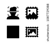 square related set of 4 icons...   Shutterstock .eps vector #1087729388