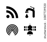 signal related set of 4 icons...   Shutterstock .eps vector #1087729520
