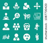 people related set of 16 icons... | Shutterstock .eps vector #1087730420