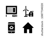 house related set of 4 icons... | Shutterstock .eps vector #1087734020