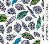 palm seamless pattern. | Shutterstock .eps vector #1087735319