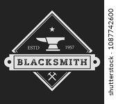 blacksmith smith union shoer... | Shutterstock .eps vector #1087742600