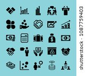 filled business icon set such... | Shutterstock .eps vector #1087759403