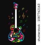art guitar  sketch for your... | Shutterstock .eps vector #1087762163