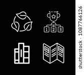 outline three icon set such as... | Shutterstock .eps vector #1087766126
