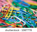 Colorful Paper Clips Close Up