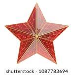 ruby star. 3d illustration   Shutterstock . vector #1087783694
