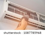 air condition cleaning with... | Shutterstock . vector #1087785968