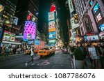 july 20 2017  time square at... | Shutterstock . vector #1087786076