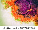abstract watercolor digital art ... | Shutterstock . vector #1087786946