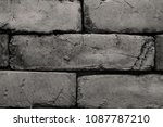 rectangular stone wall in... | Shutterstock . vector #1087787210