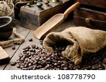 Roasted Coffee Beans In Vintag...