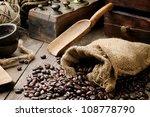 Roasted Coffee Beans In Vintage ...