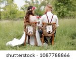 The Bride In Rustic Style With...