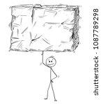 cartoon stick man drawing... | Shutterstock .eps vector #1087789298