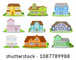 flat vector set of colorful... | Shutterstock .eps vector #1087789988