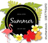 summer sale background vector | Shutterstock .eps vector #1087793693