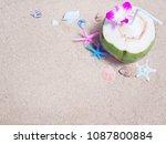 summer beach background.top... | Shutterstock . vector #1087800884