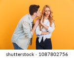 portrait of outraged displeased ... | Shutterstock . vector #1087802756