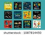 festa junina. vector templates... | Shutterstock .eps vector #1087814450