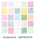 hand drawn colorful square... | Shutterstock .eps vector #1087814570