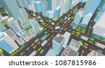 city street intersection... | Shutterstock .eps vector #1087815986