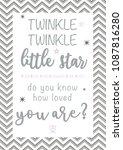 twinkle twinkle little star  ... | Shutterstock .eps vector #1087816280