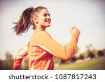 healthy lifestyle. woman... | Shutterstock . vector #1087817243