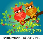 mother's day greeting card. the ... | Shutterstock .eps vector #1087819448