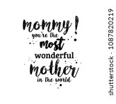 happy mother's day typography.... | Shutterstock .eps vector #1087820219