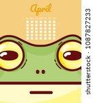 frog and calendar cartoon... | Shutterstock .eps vector #1087827233