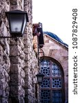 bethlehem alley architectures... | Shutterstock . vector #1087829408