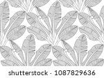 palm leaves pattern. adult... | Shutterstock .eps vector #1087829636