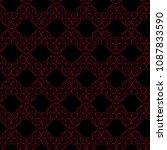 seamless vector antique...   Shutterstock .eps vector #1087833590