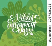 world environment day... | Shutterstock .eps vector #1087836233