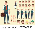 animation character  office... | Shutterstock .eps vector #1087840250