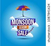 happy monsoon season background ... | Shutterstock .eps vector #1087841624