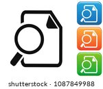 searching documents button... | Shutterstock .eps vector #1087849988