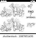 black and white cartoon... | Shutterstock .eps vector #1087851650