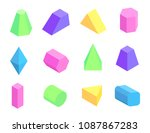 different shape prism... | Shutterstock .eps vector #1087867283