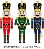 set of a three colorful... | Shutterstock .eps vector #1087867913