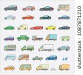 a large set of color transport  ... | Shutterstock .eps vector #1087871210