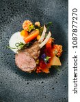 modern french cuisine  close up ... | Shutterstock . vector #1087877270