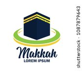 makkah kaaba hajj omra logo... | Shutterstock .eps vector #1087879643