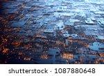 3d illustration. abstract 3d... | Shutterstock . vector #1087880648