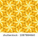 geometric vanilla flower... | Shutterstock .eps vector #1087884860