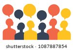 people with speech balloon ... | Shutterstock .eps vector #1087887854