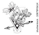 vector geometric alchemy symbol ... | Shutterstock .eps vector #1087893614