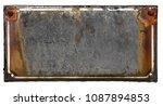 old  metal  rusty  blank plaque ...   Shutterstock . vector #1087894853