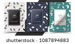 luxury premium menu design... | Shutterstock .eps vector #1087894883